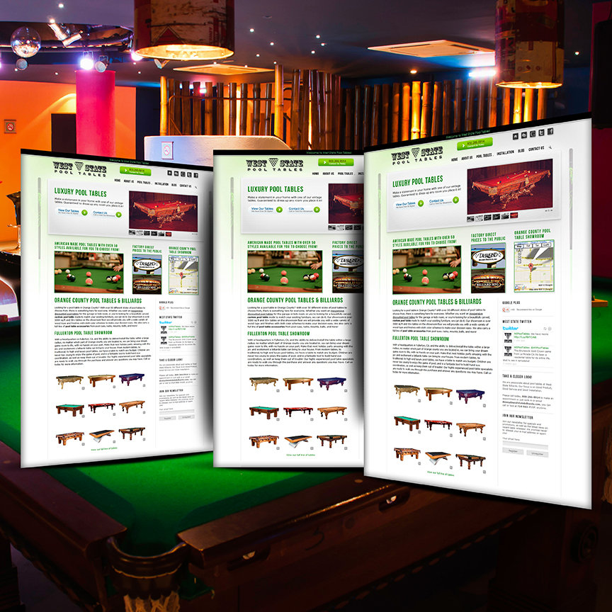 pool table website