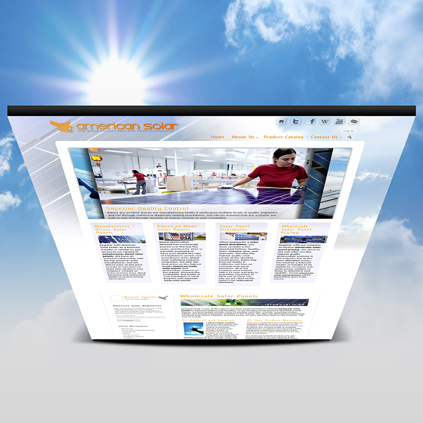 solar company website
